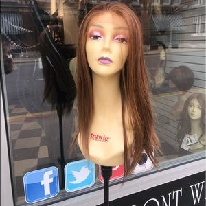Accessories - Copper wig swisslace lacefront Freepart 20-22 Long